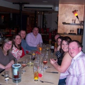 22nd birthday meal - sally howley, me, john ingman, michael howley, billy rushworth, michelle catlow, charlie brean and richard jones