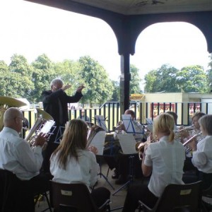 The Band play at Whitehall Recreation Ground Summer Festival
