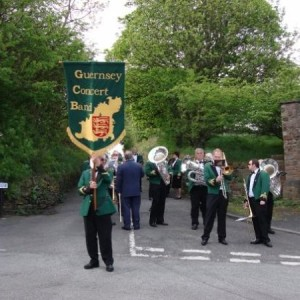 Lining up in 2008 for Whit Friday church walk heading to Saddleworth Church