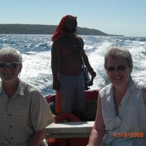 "Jamaican boat trip with ""Captain Ted"""