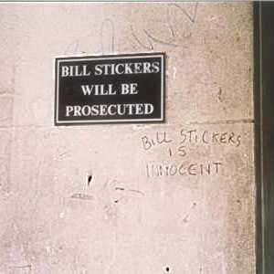 bill stickers is innocent..