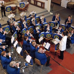 Conducting Epsom & Ewell Silver Band in concert at Colchester, June 2013