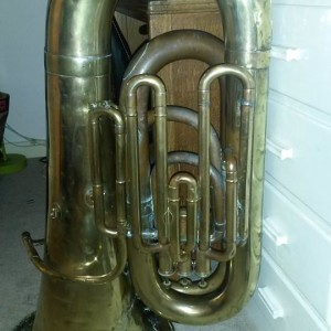 Circa 1886 J Higham's Bb Tuba, named Pete after its former owner.