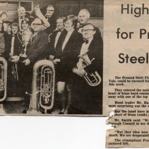 Pressed Steel-City Of Birmingham Band. 1974.