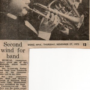 Amington Band, Mark And Matt Smith. 1975.