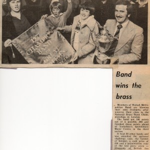 Walsall Metropolitan Band. 1977 National Champions.