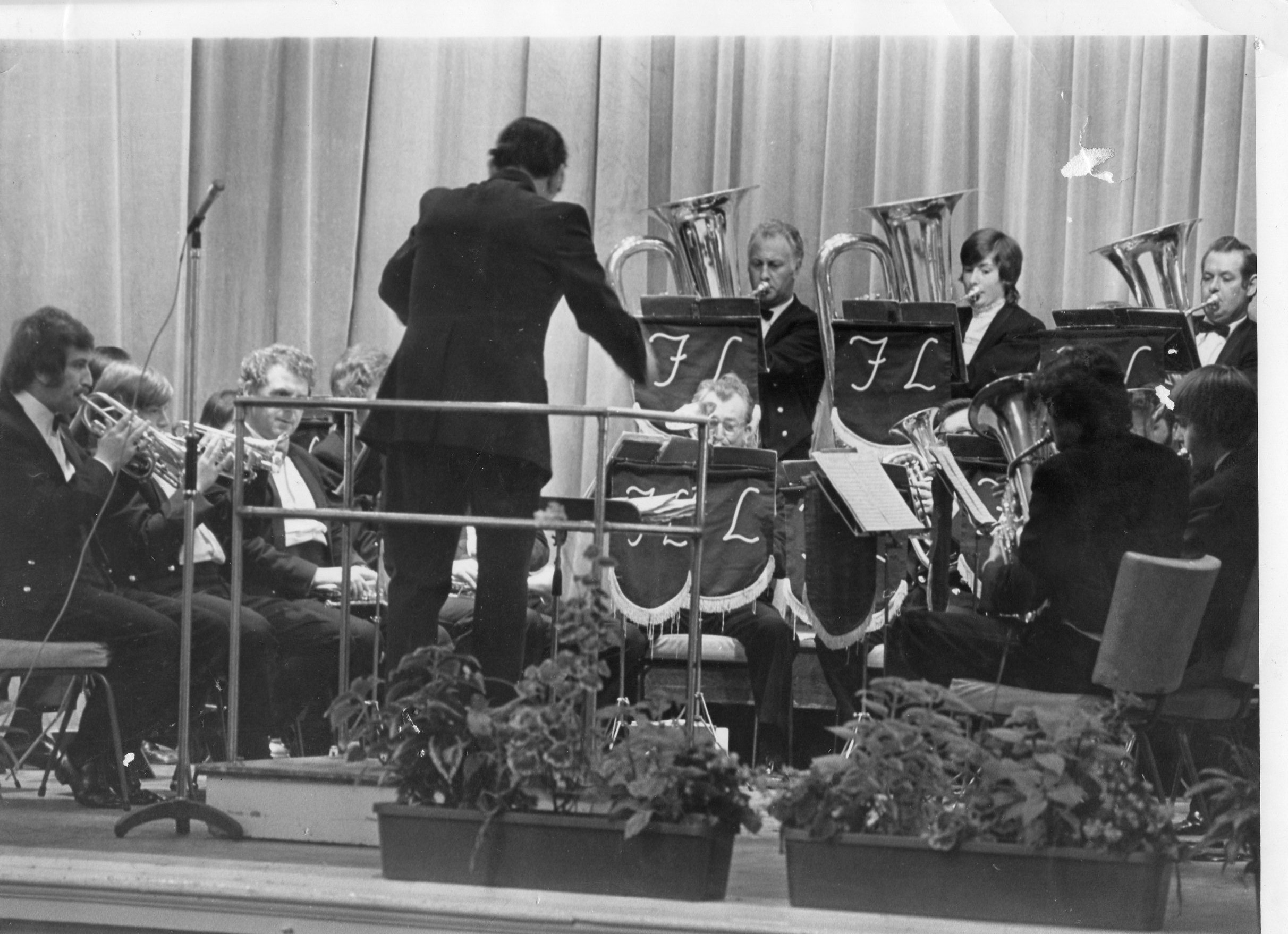 Pressed Steel Fisher Band. Sutton Town Hall. 1973.